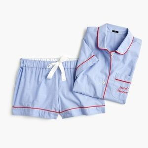 "NWT J. Crew Pajama Set in ""Sweet Dreams"" X Small"